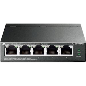 5-Port Gigabit Easy Smart Switch with 4-Port PoE+